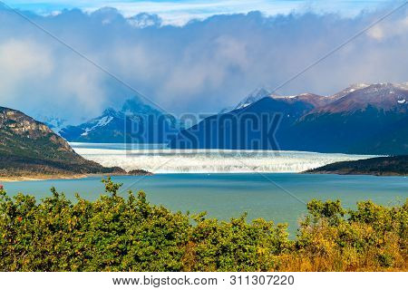 Beautiful Landscape Of Perito Moreno Glacier At Los Glaciares National Park In Patagonia Argentina