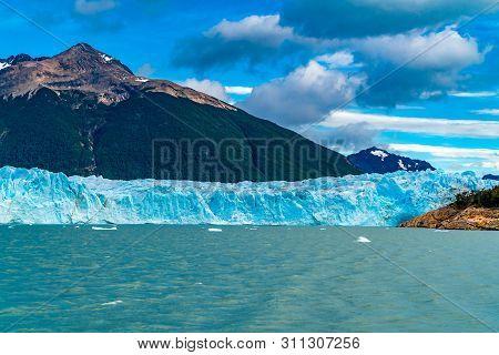 View Of The Perito Moreno Glacier On Argentina Lake In The Los Glaciares National Park, Argentina