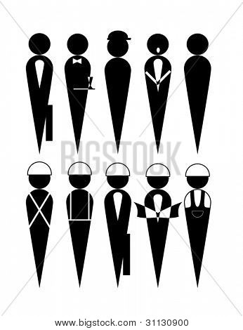 Concept of different people occupation poster