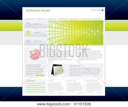Business web template in editable vector format
