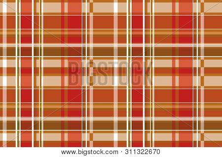 Seamless Checkered Pattern In Scottish Style. Tartan. A Classic Christmas Geometric Pattern. Woolen