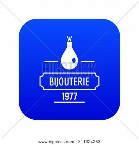 Bijouterie Icon Blue Vector Isolated On White Background