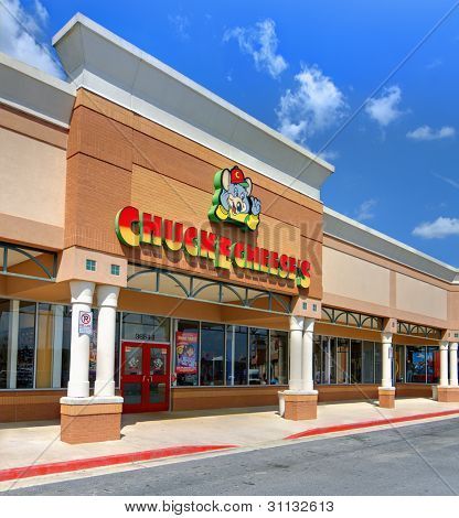 ATHENS, GEORGIA - MARCH 15: Chuck E. Cheese's March 15, 2012 in Athens, GA. The chain has officially been labeled as the first family restaurant to integrate food, entertainment, and an indoor arcade.