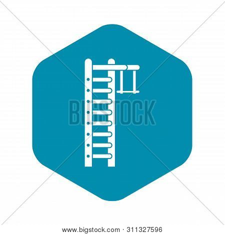Swedish Ladder Icon. Simple Illustration Of Swedish Ladder Vector Icon For Web