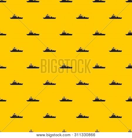 Warship Pattern Seamless Vector Repeat Geometric Yellow For Any Design