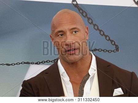 Dwayne Johnson at the World premiere of 'Fast & Furious Presents: Hobbs & Shaw' held at the Dolby Theatre in Hollywood, USA on July 13, 2019.