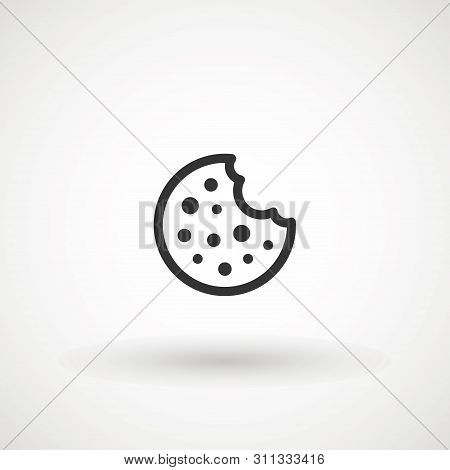 Browser Cookie Icon. Outline Style Icon Cookie Icon Vector Isolated On White Background, Logo Concep