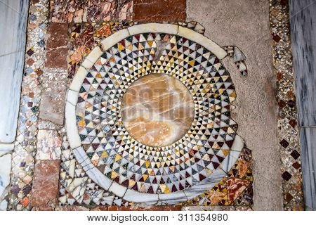 The Floor Of The Room In The Church Of St. Nicholas In Demre.