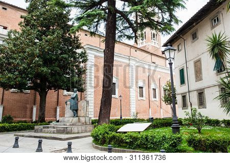 Pisa, Italy - April, 2018: Monument To  The Mathematician And Politician Ulisse Dini In Pisa