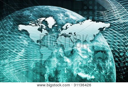 Security Network Data of the World Background