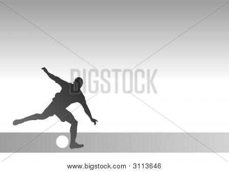 Stricker Silhouette 1A - Kicking A Soccer Ball