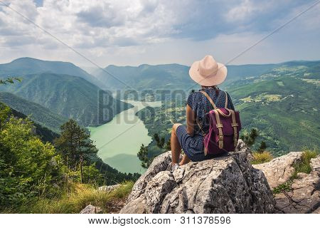 Traveling outdoor hiking walking nature. Traveling in nature. travel outdoor backpacking nature. Nature. Travel. Traveling. Sunset. Hiking. Nature and beautiful mountain view. Travel landscape nature.
