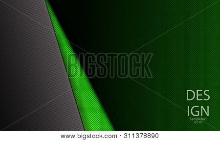 Abstract Green Dark Grooved Design With A Dark Corner