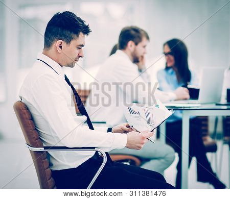 Financial Manager Background Business Meeting Business Partners.