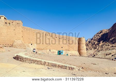 Monastery of St. Catherine in the mountains of Egypt in the Sinai Peninsula. poster