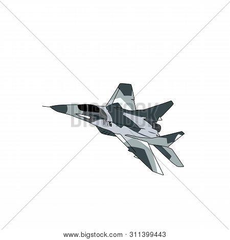 Colored Airplane Jet Fighter Vector Design Image Illustration