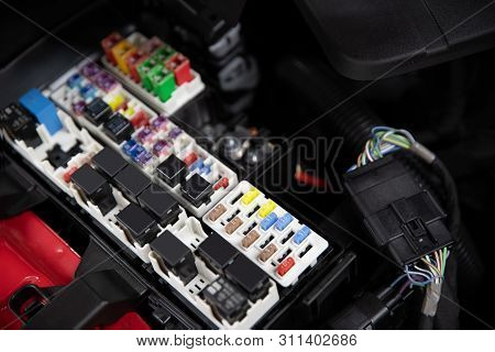 Car Electric Fuses And Relays.