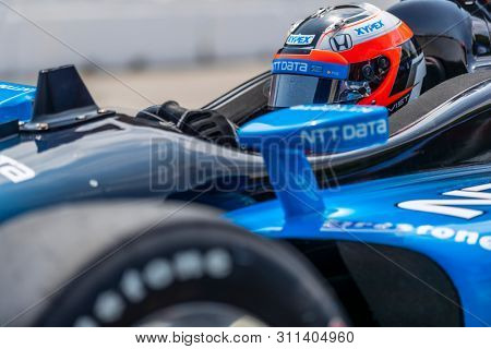 July 13, 2019 - Toronto, Ontario, CAN: FELIX ROSENQVIST (10) of Sweden prepares to qualify for the Hondy Indy Toronto at Streets of Toronto in Toronto, Ontario.