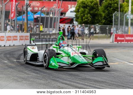 July 12, 2019 - Toronto, Ontario, CAN: COLTON HERTA (88) (R) of The United States practices for the Hondy Indy Toronto at Streets of Toronto in Toronto, Ontario.