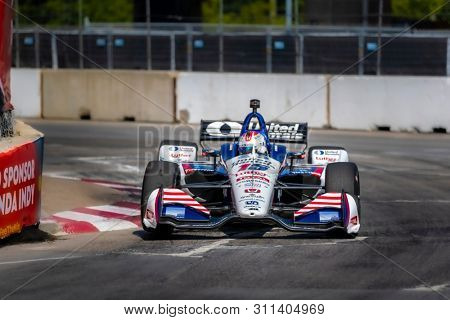 July 13, 2019 - Toronto, Ontario, CAN: GRAHAM RAHAL (15) of the United States practices for the Hondy Indy Toronto at Streets of Toronto in Toronto, Ontario.