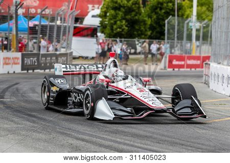 July 12, 2019 - Toronto, Ontario, CAN: JOSEF NEWGARDEN (2) of the United States practices for the Hondy Indy Toronto at Streets of Toronto in Toronto, Ontario.