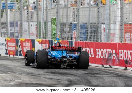 July 12, 2019 - Toronto, Ontario, CAN: SEBASTIEN BOURDAIS (18) of France practices for the Hondy Indy Toronto at Streets of Toronto in Toronto, Ontario.