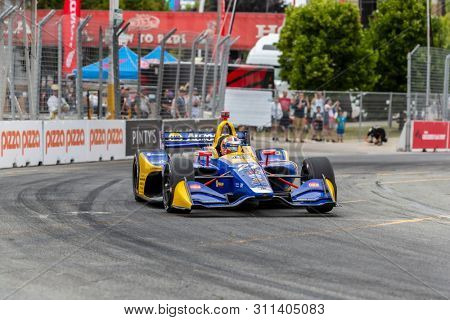July 12, 2019 - Toronto, Ontario, CAN: ALEXANDER ROSSI (27) of the United States practices for the Hondy Indy Toronto at Streets of Toronto in Toronto, Ontario.