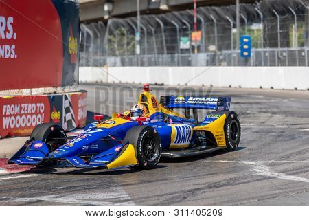 July 13, 2019 - Toronto, Ontario, CAN: ALEXANDER ROSSI (27) of the United States practices for the Hondy Indy Toronto at Streets of Toronto in Toronto, Ontario.