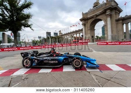 July 12, 2019 - Toronto, Ontario, CAN: FELIX ROSENQVIST (10) of Sweden practices for the Hondy Indy Toronto at Streets of Toronto in Toronto, Ontario.