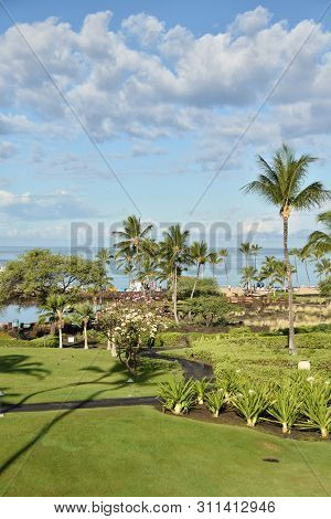 Beautifully Landscaped Waterfront Park In Big Island, Hawaii