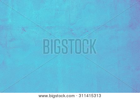 Blue Concrete Wall Of Light Blue Color, Cement Wall, Cement Texture Background For Design, Navy Seaw