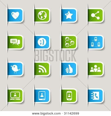 Label - Social media icons