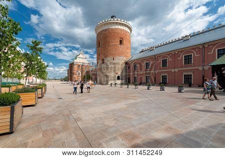 Lublin, Poland - Jul 8, 2018: Lublin Castle Courtyard