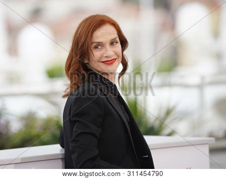 CANNES, FRANCE - MAY 21, 2019: Isabelle Huppert attends the photocall for