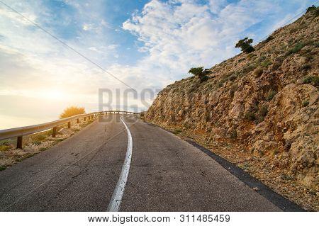 Road Near Stara Baska, Krk Island , Croatia