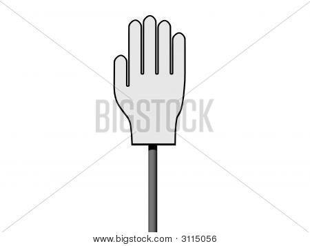 Leere Palm Sign