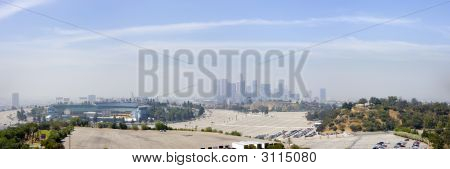 Los Angeles Downtown Skyline Horizontal Panoramic