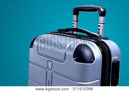 Hand Luggage Suitcase For Travel By Plane. Travel Bag