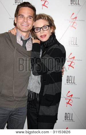 LOS ANGELES - MAR 16:  Greg Rikaart, Judith Chapman arrives at the Young & Restless 39th Anniversary Party hosted by the Bell Family at the Palihouse on March 16, 2012 in West Hollywood, CA