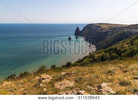 Landscape Of The Sea Coast In A Crimea. Fiolent Headland