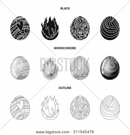 Isolated Object Of Animal And Prehistoric Sign. Collection Of Animal And Cute Vector Icon For Stock.