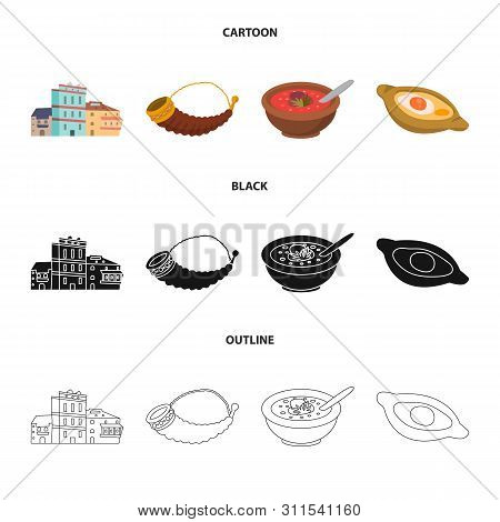 Vector Illustration Of Culture And Sightseeing Symbol. Collection Of Culture And Originality Vector