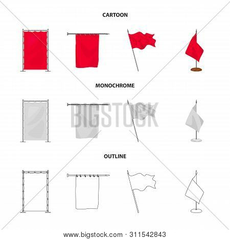 Vector Design Of Texture And Presentation Icon. Set Of Texture And Media Stock Symbol For Web.