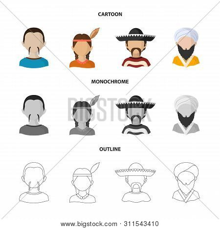 Vector Illustration Of Imitator And Resident Icon. Set Of Imitator And Culture Vector Icon For Stock