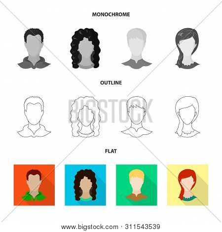 Vector Illustration Of Professional And Photo Sign. Set Of Professional And Profile Stock Symbol For