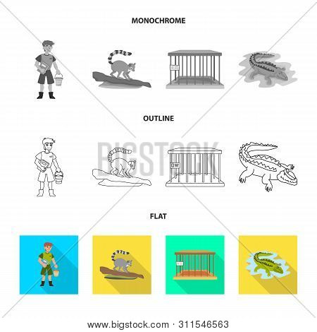 Vector Illustration Of Nature And Fun Icon. Collection Of Nature And Entertainment Vector Icon For S