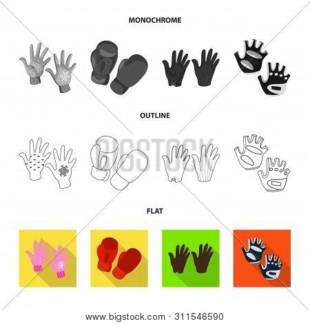 Vector Design Of Silhouette And Safety Icon. Set Of Silhouette And Comfort Stock Symbol For Web.