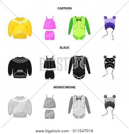 Vector Design Of Fashion And Garment Logo. Collection Of Fashion And Cotton Stock Symbol For Web.