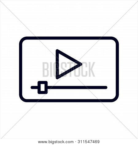 Video Player Icon Isolated On White Background. Video Player Icon In Trendy Design Style. Video Play