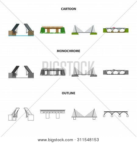 Isolated Object Of Connection And Design Sign. Set Of Connection And Side Stock Vector Illustration.